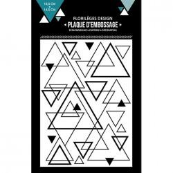 Plaque d'embossage Mix de triangles - 10,5 x 14,5 cm