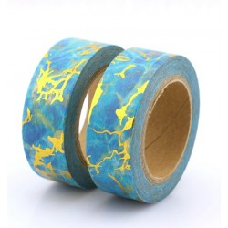 Masking Tape Foil Tape - Motifs or fond bleu