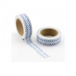 Masking Tape - Traits Bleu Marine