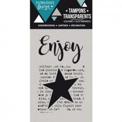 Tampon Clear Florilèges Design - Enjoy
