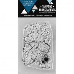 Tampon Clear Florilèges Design - Fond Craquelé
