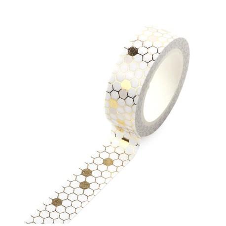 Masking Tape Foil Tape - Motifs Hexagonaux or fond blanc
