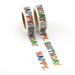 Masking Tape - Happy Birthday Couleur