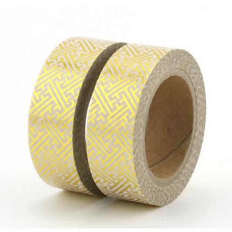 Masking Tape Foil Tape - Motifs Géométriques Or