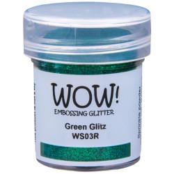 Poudre à embosser Wow - Green Glitz - Vert (Paillettes)