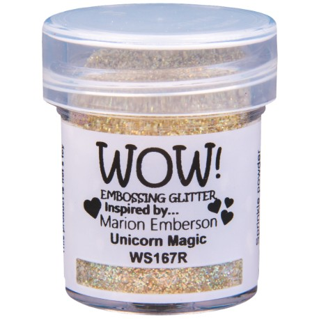 Poudre à embosser Wow - Unicorn Magic (Or reflets Paillettes)