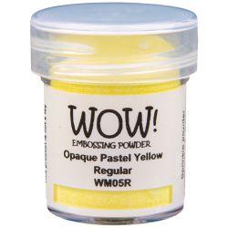 Poudre à embosser Wow - Opaque Pastel Yellow - Jaune pastel