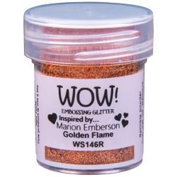 Poudre à embosser Wow - Golden Flame (paillettes)