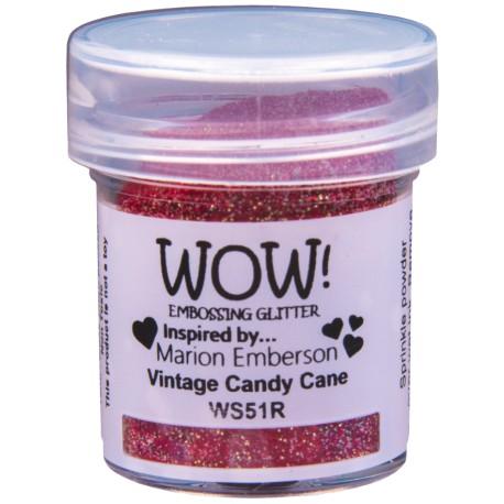 Poudre à embosser Wow - Vintage Candy Cane (paillettes)