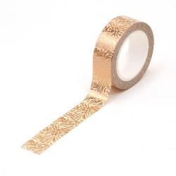 Masking Tape Foil Tape - motifs flocons cuivrés