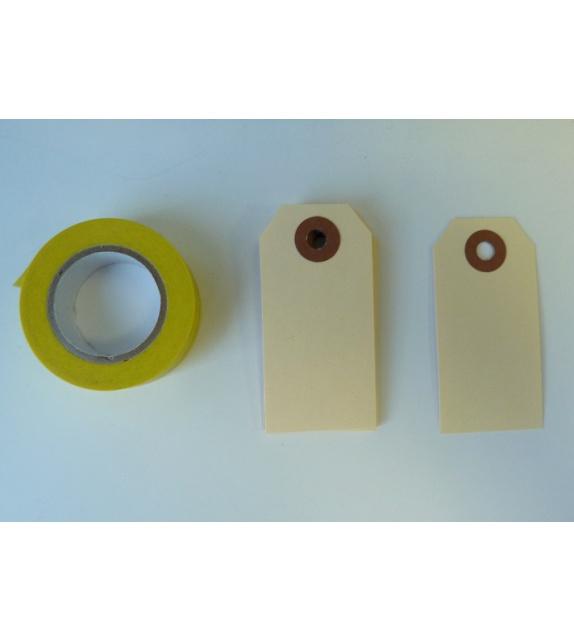 Set of 10 Vanilla Tags Kraft S (35x70mm)