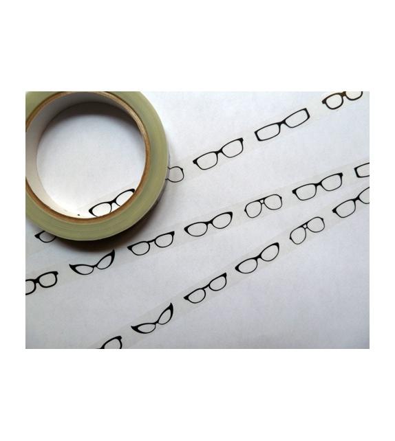 Déco Tape Transparent - Lunettes Noires