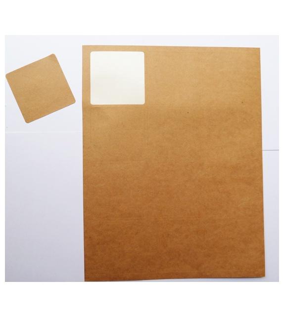 Planche 12 étiquettes autocollantes carrées - 63 x 63 mm