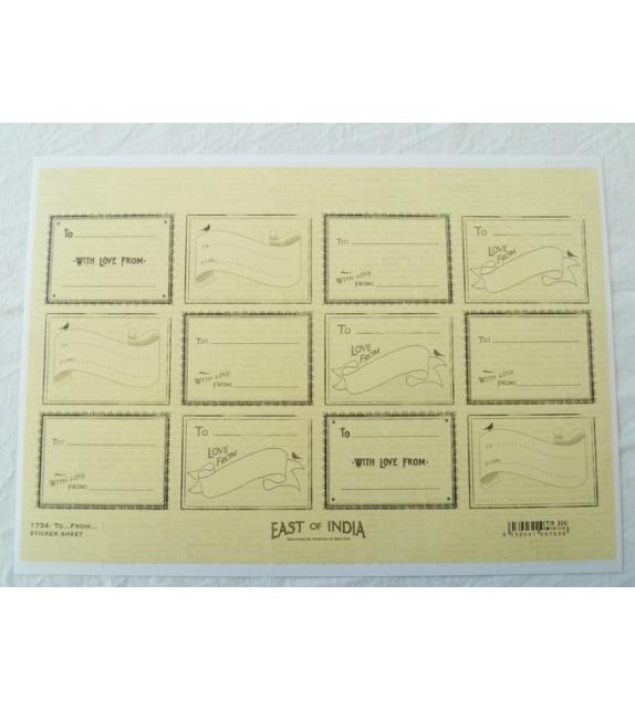 Planche d'étiquettes autocollantes - To….From….